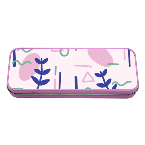 Abstract Plants - tin pencil case by Ella Seymour