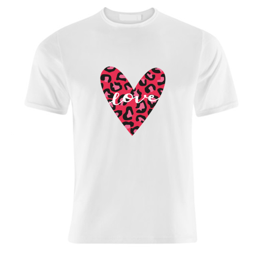 Heart with Print - unique t shirt by The Boy and the Bear