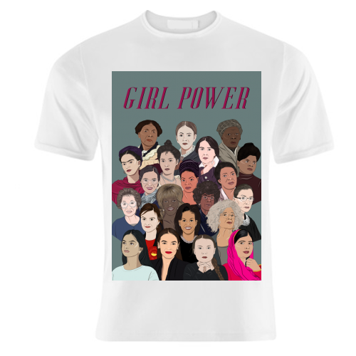 Girl Power inspirational women - unique t shirt by Amina Pagliari