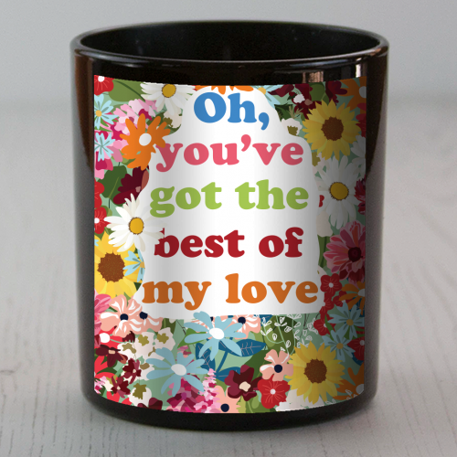 Best of my Love - Candle by Niamh McKeown