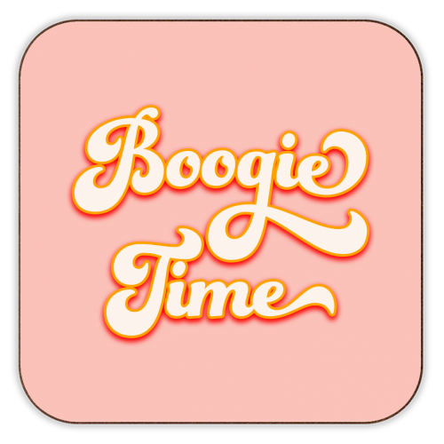Boogie Time - personalised drink coaster by Dominique Benedict
