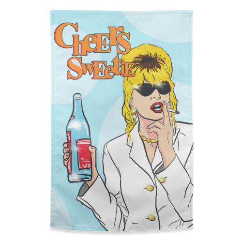 Cheers Sweetie - funny tea towel by Bite Your Granny