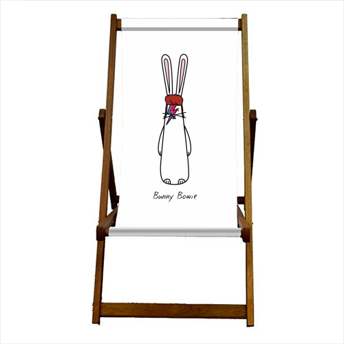 Bunny Bowie - canvas deck chair by Hoppy Bunnies