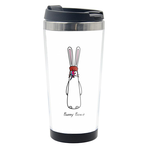 Bunny Bowie - travel water bottle by Hoppy Bunnies