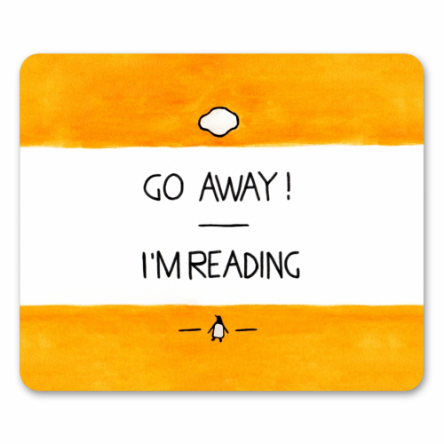 Go Away, I'm Reading - Watercolour Illustration - personalised mouse mat by A Rose Cast - Karen Murray