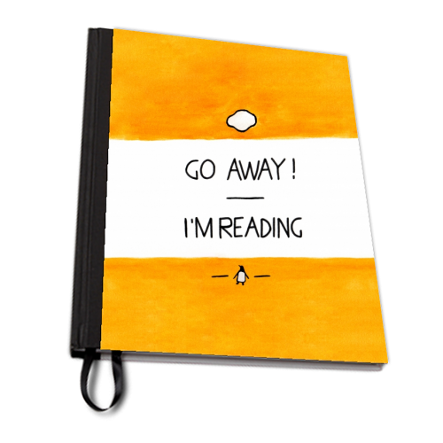 Go Away, I'm Reading - Watercolour Illustration - designed notebook by A Rose Cast - Karen Murray