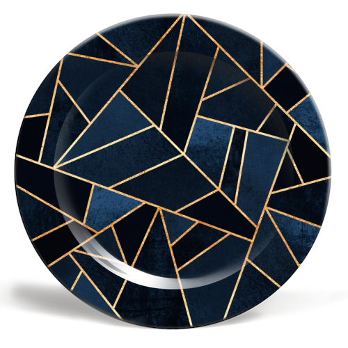 Navy Stone - personalised dinner plate by Elisabeth Fredriksson