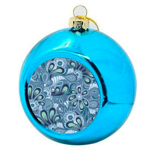Burst of Spring - colourful christmas bauble by Julia Barstow