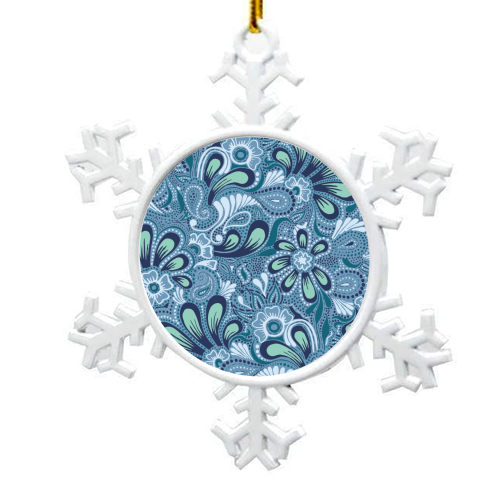 Burst of Spring - snowflake decoration by Julia Barstow
