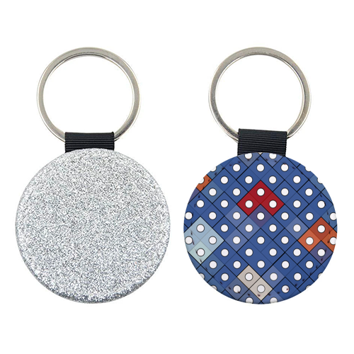 Dice 2 - personalised leather keyring by Julia Barstow