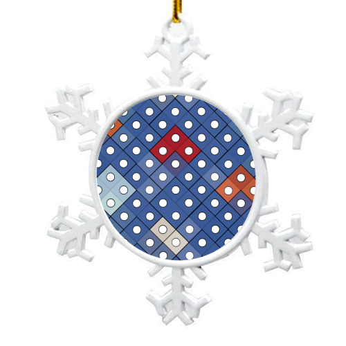 Dice 2 - snowflake decoration by Julia Barstow