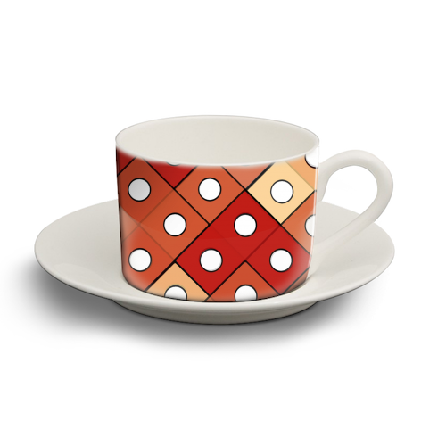 Dice - personalised cup and saucer by Julia Barstow