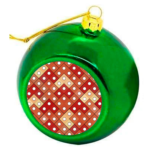 Dice - colourful christmas bauble by Julia Barstow