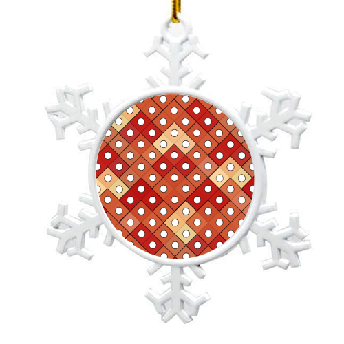 Dice - snowflake decoration by Julia Barstow