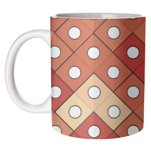 Dice - unique mug by Julia Barstow