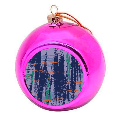 Lipofsky  - colourful christmas bauble by Julia Barstow
