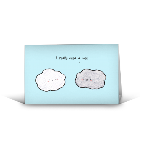 Clouds - funny greeting card by Ellie Bednall