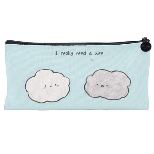 Clouds - unique pencil case by Ellie Bednall