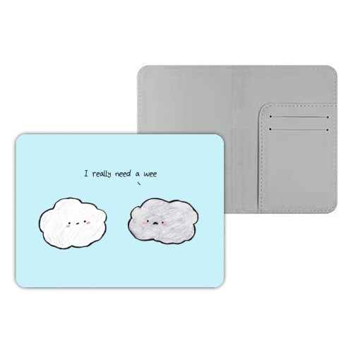 Clouds - designer passport cover by Ellie Bednall
