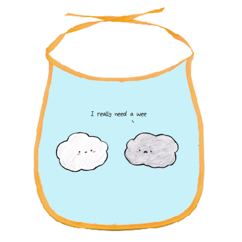 Clouds - funny baby bib by Ellie Bednall