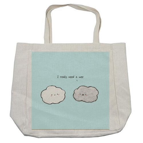 Clouds - cool beach bag by Ellie Bednall