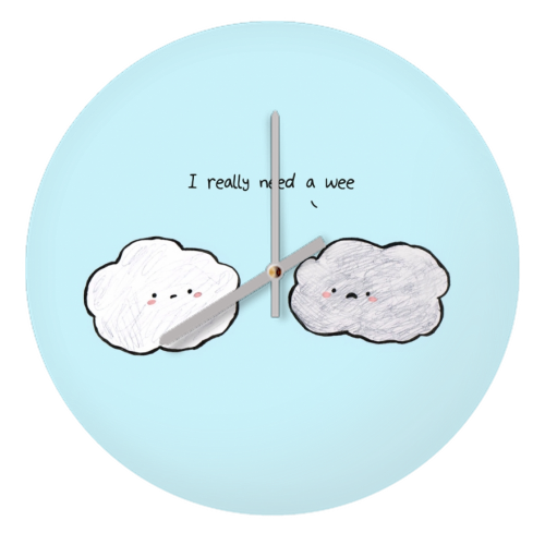 Clouds - creative clock by Ellie Bednall