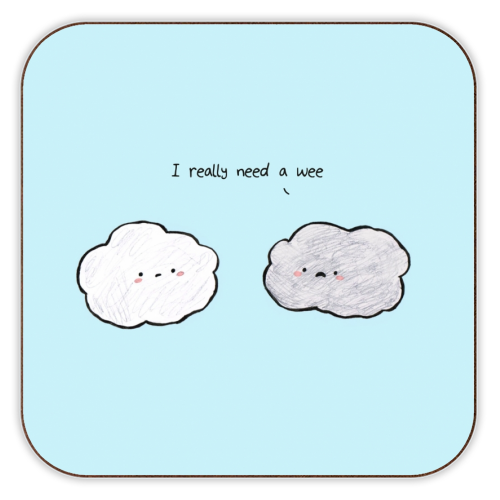Clouds - personalised drink coaster by Ellie Bednall