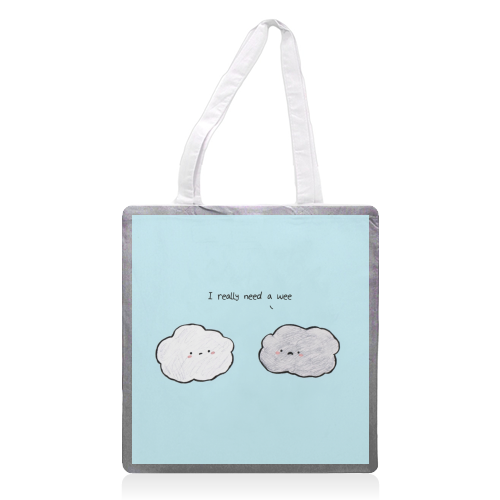 Clouds - printed tote bag by Ellie Bednall