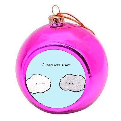 Clouds - colourful christmas bauble by Ellie Bednall