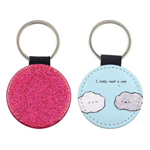 Clouds - personalised picture keyring by Ellie Bednall
