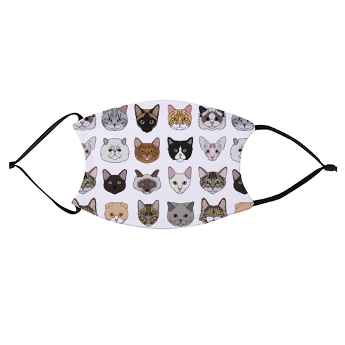 Cats - washable face mask by Kitty & Rex Designs