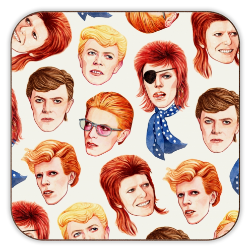 Fabulous Bowie - personalised drink coaster by Helen Green