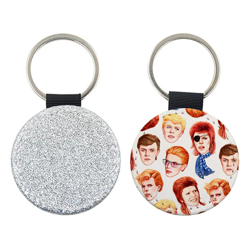 Fabulous Bowie - personalised picture keyring by Helen Green