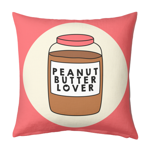 Peanut Butter Lover - designed cushion by Stephanie Komen