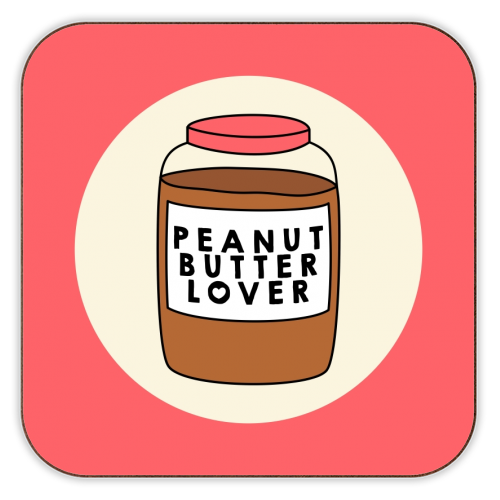 Peanut Butter Lover - personalised drink coaster by Stephanie Komen