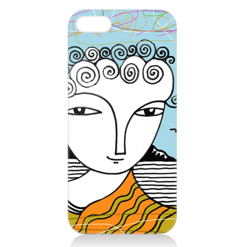 Welsh Girl by the Sea - unique phone case by deborah Withey