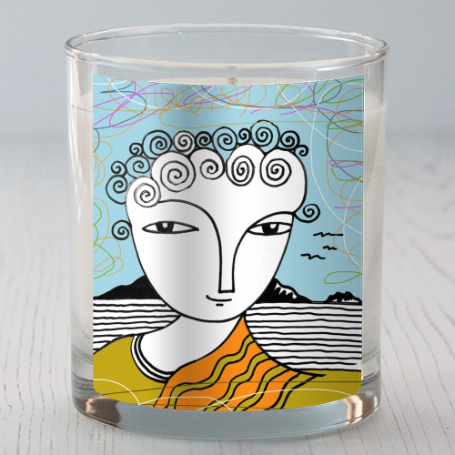 Welsh Girl by the Sea - Candle by deborah Withey