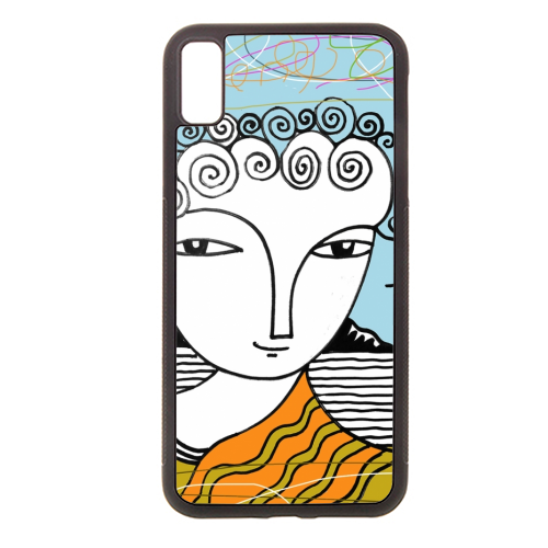 Welsh Girl by the Sea - Rubber phone case by deborah Withey