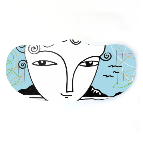 Welsh Girl by the Sea - washable face mask by deborah Withey