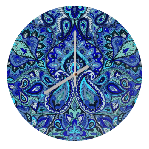 Paisley Blue - creative clock by Aimee St Hill