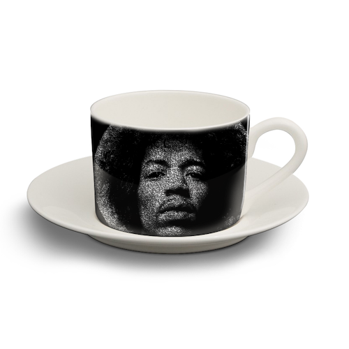 Hendrix - personalised cup and saucer by RoboticEwe
