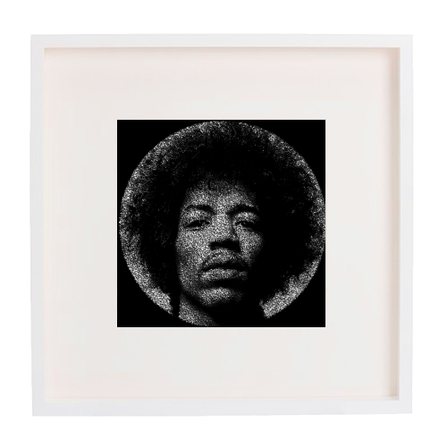 Hendrix - printed framed picture by RoboticEwe