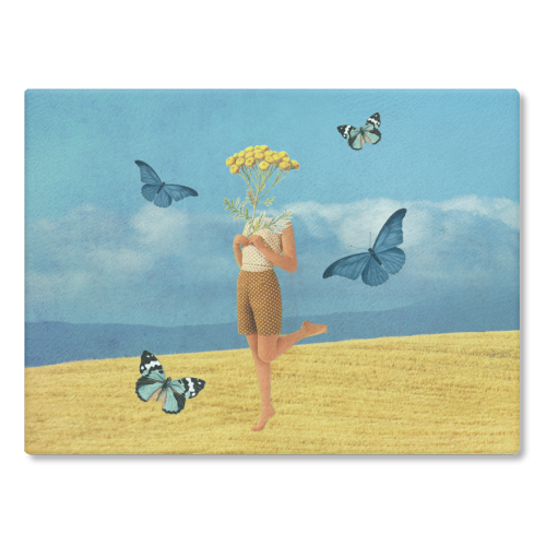 Summer vibes - glass chopping board by Maya Land