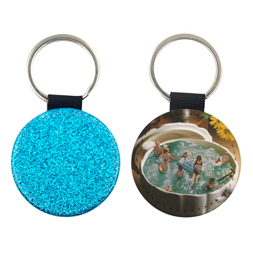 Summer food - personalised picture keyring by Maya Land