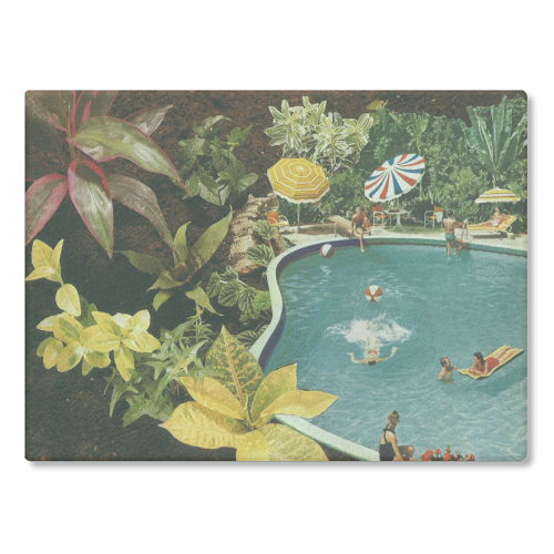 Summer fun - glass chopping board by Maya Land