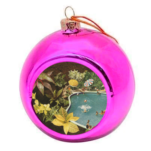 Summer fun - colourful christmas bauble by Maya Land