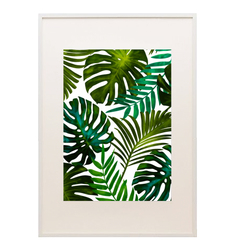 Tropical Dream V2 - printed framed picture by Uma Prabhakar Gokhale