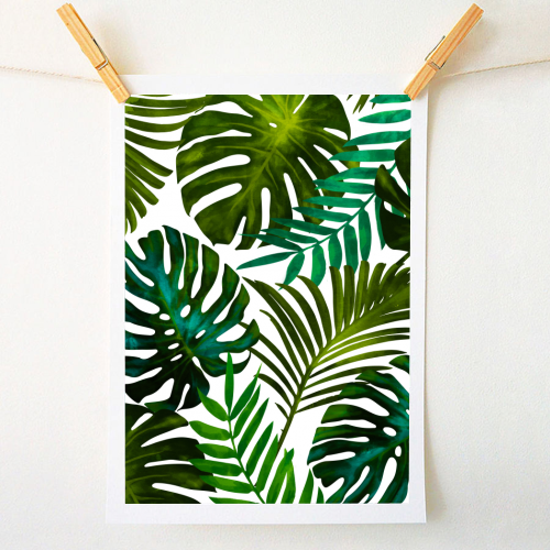 Tropical Dream V2 - original print by Uma Prabhakar Gokhale