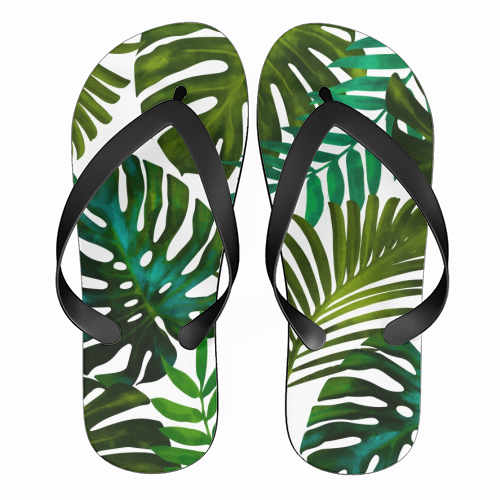 Tropical Dream V2 - funny flip flops by Uma Prabhakar Gokhale