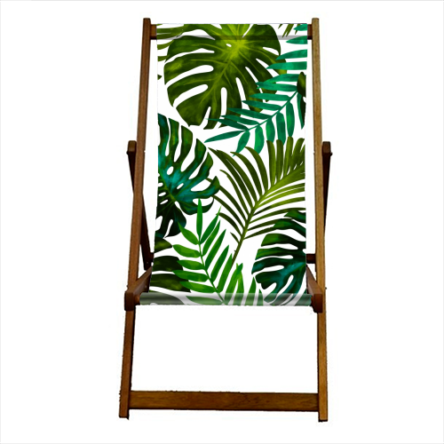 Tropical Dream V2 - canvas deck chair by Uma Prabhakar Gokhale